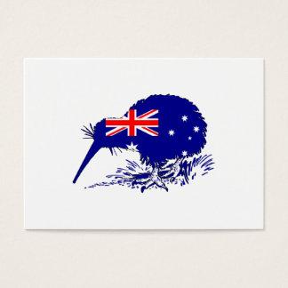 Australische Flagge - Kiwi-Vogel Visitenkarte