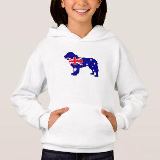 Australische Flagge - Neufundland-Hund Hoodie