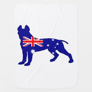 Australische Flagge - Pitbull Terrier Kinderwagendecke