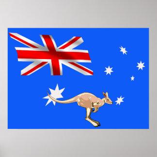 Australische Flagge Poster