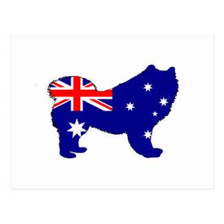 Australische Flagge - Samoyed Postkarte