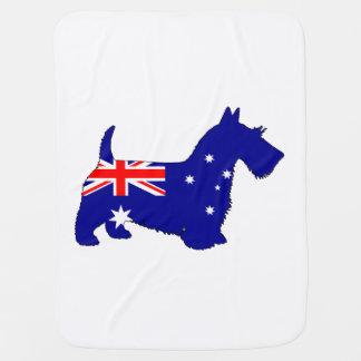 Australische Flagge - Scottish Terrier Babydecke