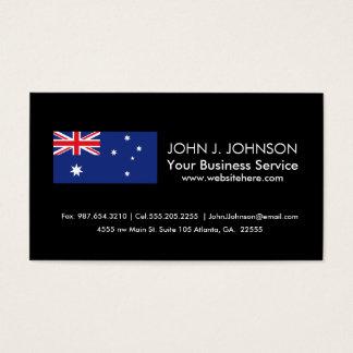 Australische Flagge Visitenkarte