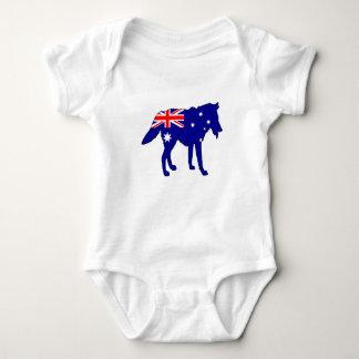 Australische Flagge - Wolf Baby Strampler