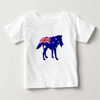 Australische Flagge - Wolf Baby T-shirt