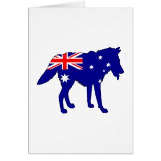 Australische Flagge - Wolf Karte