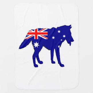 Australische Flagge - Wolf Kinderwagendecke