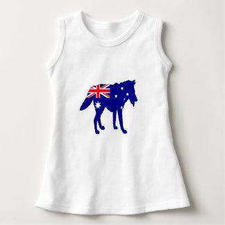 Australische Flagge - Wolf Kleid