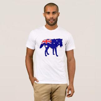 Australische Flagge - Wolf T-Shirt