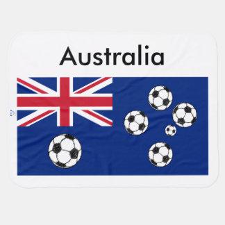 Australische Flaggen-Fußbälle Kinderwagendecke