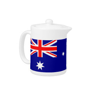 Australische Flaggen-Teekanne