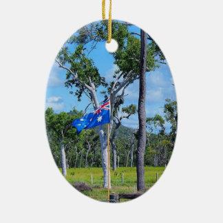 Australische Flaggenverzierung Keramik Ornament