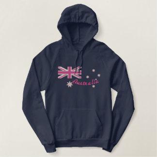 Australische Girly Flaggen-Stickerei Hoodie