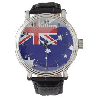 Australische glatte Flagge Armbanduhr