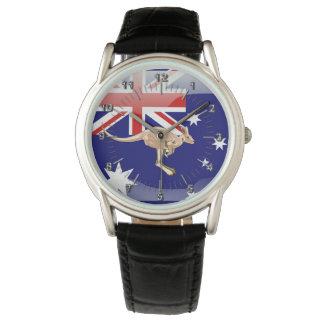 Australische glatte Flagge Uhr