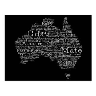 Australische Jargonkarte Postkarte