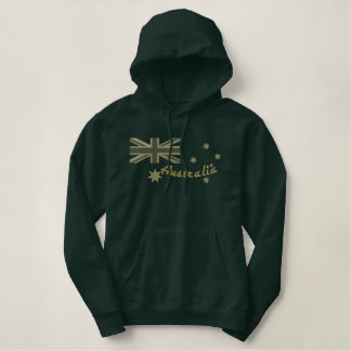 Australische Kakipflaumenbaum-Flaggen-Stickerei Bestickter Hoodie
