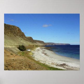 Australische Küstenlinie landschaftlich Poster
