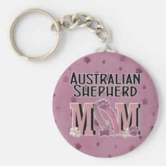 Australische Schäfer MAMMA Standard Runder Schlüsselanhänger
