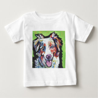 australische Schäferspaß-Pop-Kunstminiaturmalerei Baby T-shirt