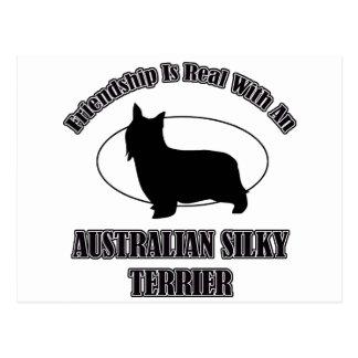 AUSTRALISCHE SEIDIGES TERRIER-HUNDEentwürfe Postkarte