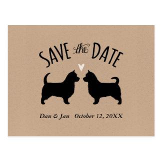 Australische Terrier, die Save the Date Wedding Postkarte