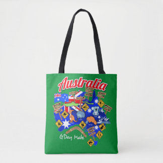 Australische Tiere und Standorte Tasche