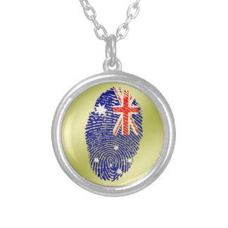 Australische Touchfingerabdruckflagge Versilberte Kette