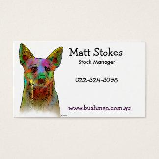 Australische Vieh-Hunde Visitenkarte