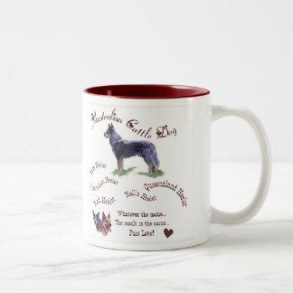 Australische Vieh-Hundegeschenke Zweifarbige Tasse
