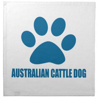 AUSTRALISCHE VIEH-HUNDEhundeentwürfe Stoffserviette