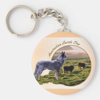 Australische Vieh-Hundekunst Schlüsselanhänger