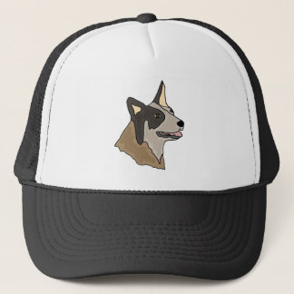 Australische Vieh-Hundekunst Truckerkappe