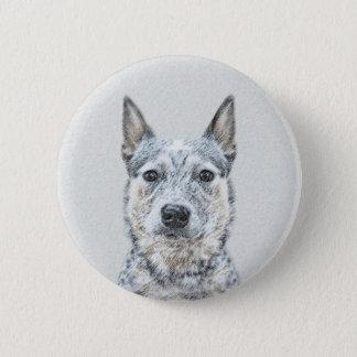 Australische Vieh-Hundemalerei - niedliche Runder Button 5,1 Cm