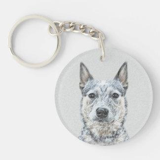 Australische Vieh-Hundemalerei - niedliche Schlüsselanhänger