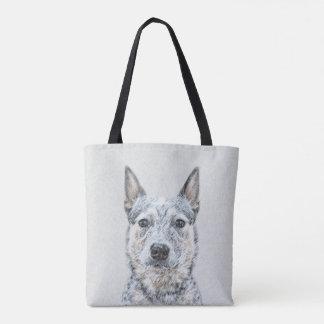 Australische Vieh-Hundemalerei - niedliche Tasche