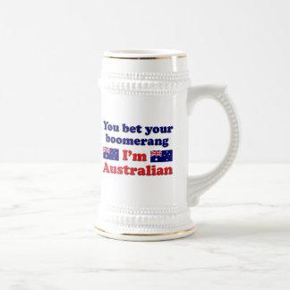 Australischer Bumerang Bierglas
