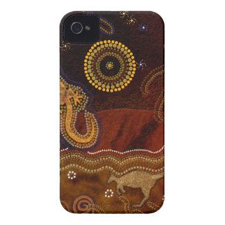 Australischer eingeborener Kunst-Entwurf iPhone 4 Etuis
