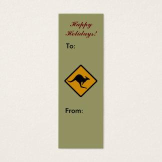 Australischer Känguru-frohe Feiertage Mini Visitenkarte