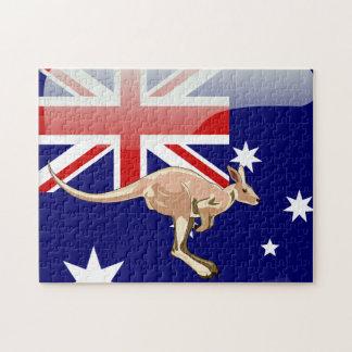 Australischer Känguru Puzzle