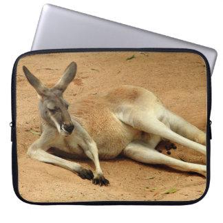Australischer roter Känguru Laptop Sleeve