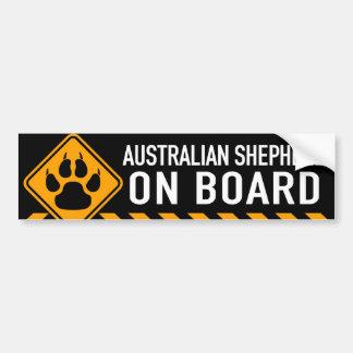 Australischer Schäfer an Bord Autoaufkleber