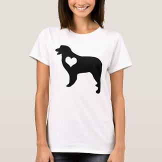 Australischer Schäfer-Herz-T - Shirt