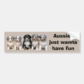 Australischer Schäfer-Welpen-Autoaufkleber