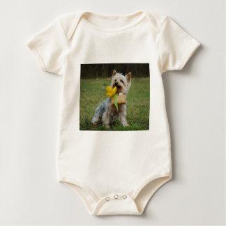 Australischer seidiges Terrier-Hund Baby Strampler