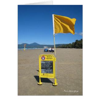 Australischer Strand-Bericht Karte