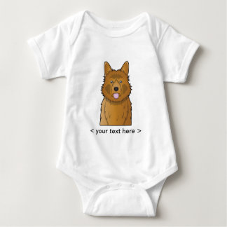 Australischer Terrier-Cartoon personalisiert Baby Strampler