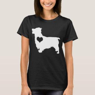 Australischer Terrier-Herz-Dunkelheits-T - Shirt