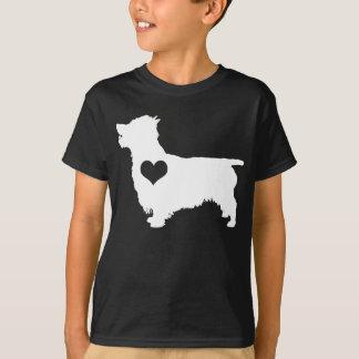 Australischer Terrier-Herz scherzt dunklen T - T-Shirt