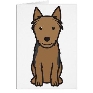 Australischer Terrier-HundeCartoon Karte